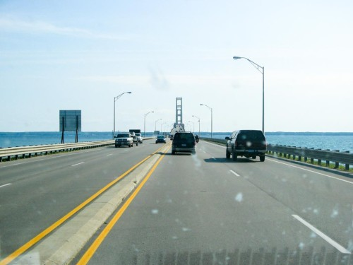 Mackinac Bridge near St. Ignace, Mich.