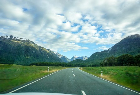 Drive heading toward Milford Sound