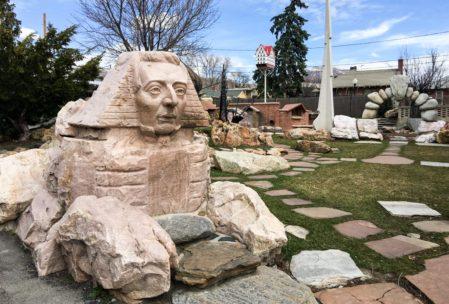 The Joseph Smith Sphinx at Gilgal Garden in SLC.