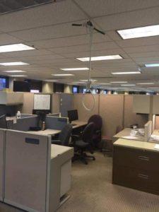 noose hanging in cubicle