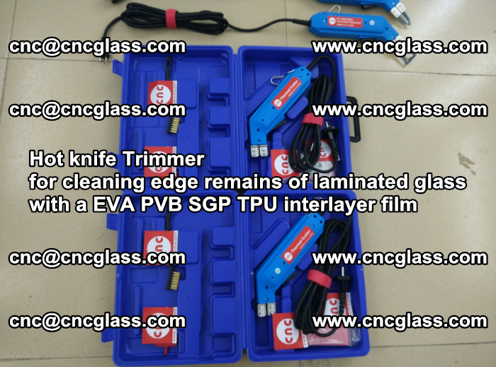 EVA Hot knife Trimmer for cleaning edge remains of laminated glass with a EVA PVB SGP TPU interlayer film (11)