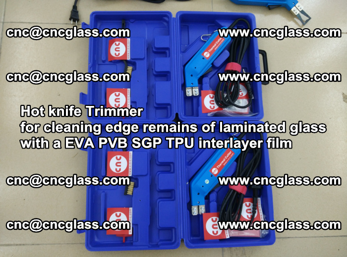 EVA Hot knife Trimmer for cleaning edge remains of laminated glass with a EVA PVB SGP TPU interlayer film (13)