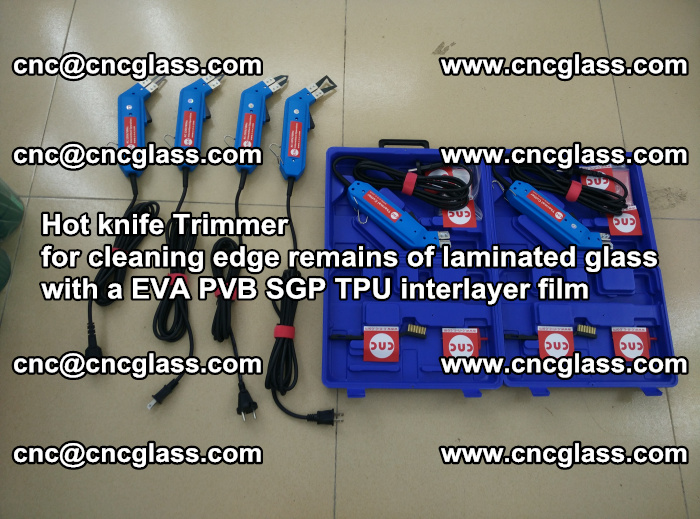EVA Hot knife Trimmer for cleaning edge remains of laminated glass with a EVA PVB SGP TPU interlayer film (25)