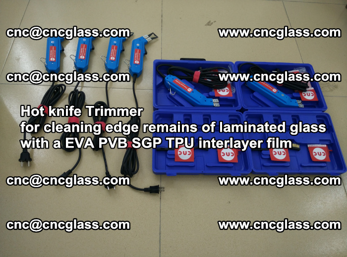 EVA Hot knife Trimmer for cleaning edge remains of laminated glass with a EVA PVB SGP TPU interlayer film (30)