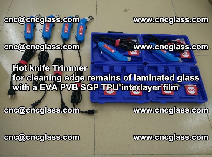 EVA Hot knife Trimmer for cleaning edge remains of laminated glass with a EVA PVB SGP TPU interlayer film (32)