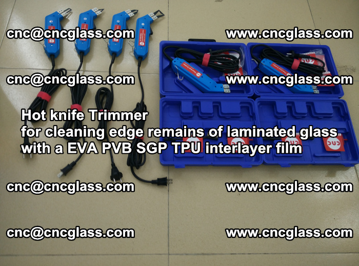 EVA Hot knife Trimmer for cleaning edge remains of laminated glass with a EVA PVB SGP TPU interlayer film (34)