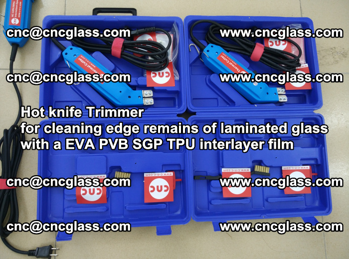EVA Hot knife Trimmer for cleaning edge remains of laminated glass with a EVA PVB SGP TPU interlayer film (49)
