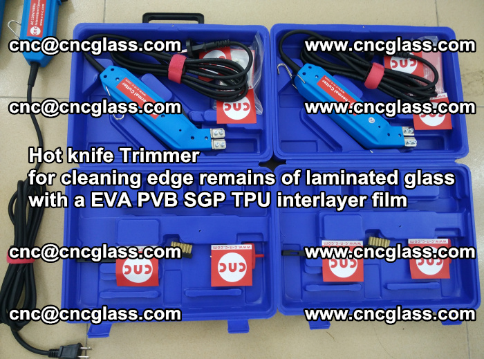 EVA Hot knife Trimmer for cleaning edge remains of laminated glass with a EVA PVB SGP TPU interlayer film (56)