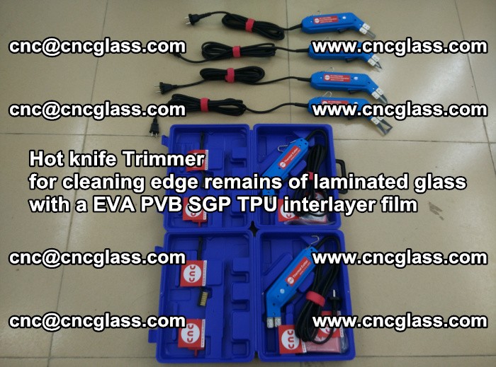 EVA Hot knife Trimmer for cleaning edge remains of laminated glass with a EVA PVB SGP TPU interlayer film (6)