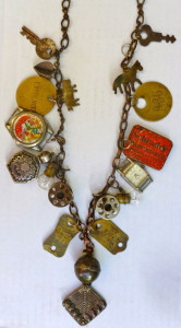Recycled necklace by Ellen Benson