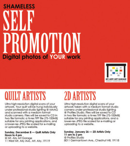 self promotion: digital photos of your work