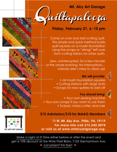 Quiltapalooza flyer