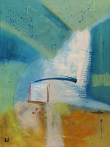 Above/Below, a painting by Lee Muslin