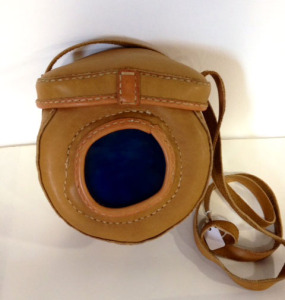Hand-made leather purse by Arleen Olshan