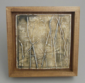 Ceramic tile by Ruth Schachter