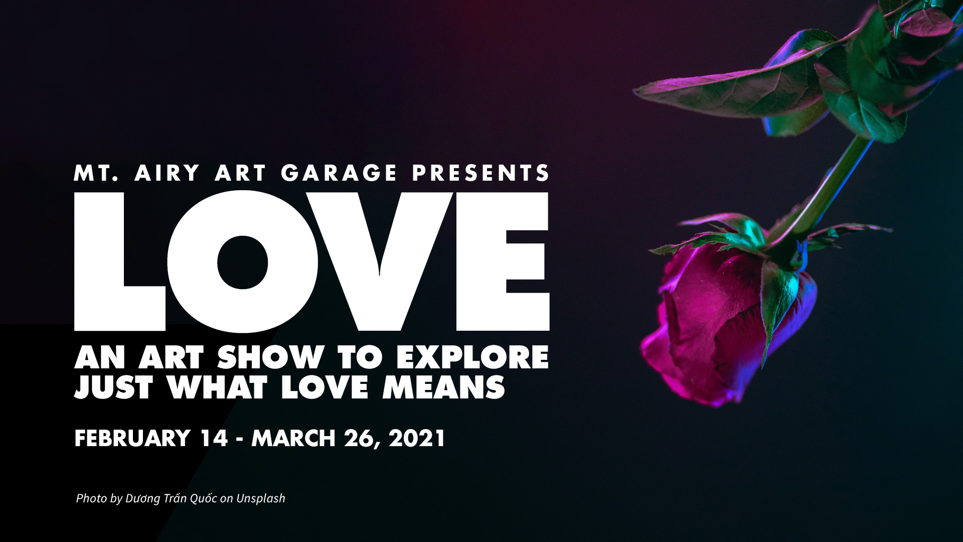LOVE: An Art Exhibition Ad