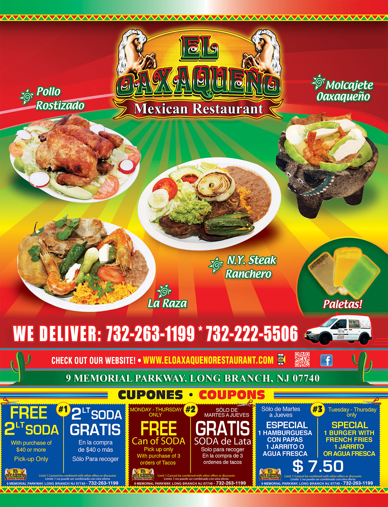 El Oaxaqueno Restaurant Long Branch Menu Page1