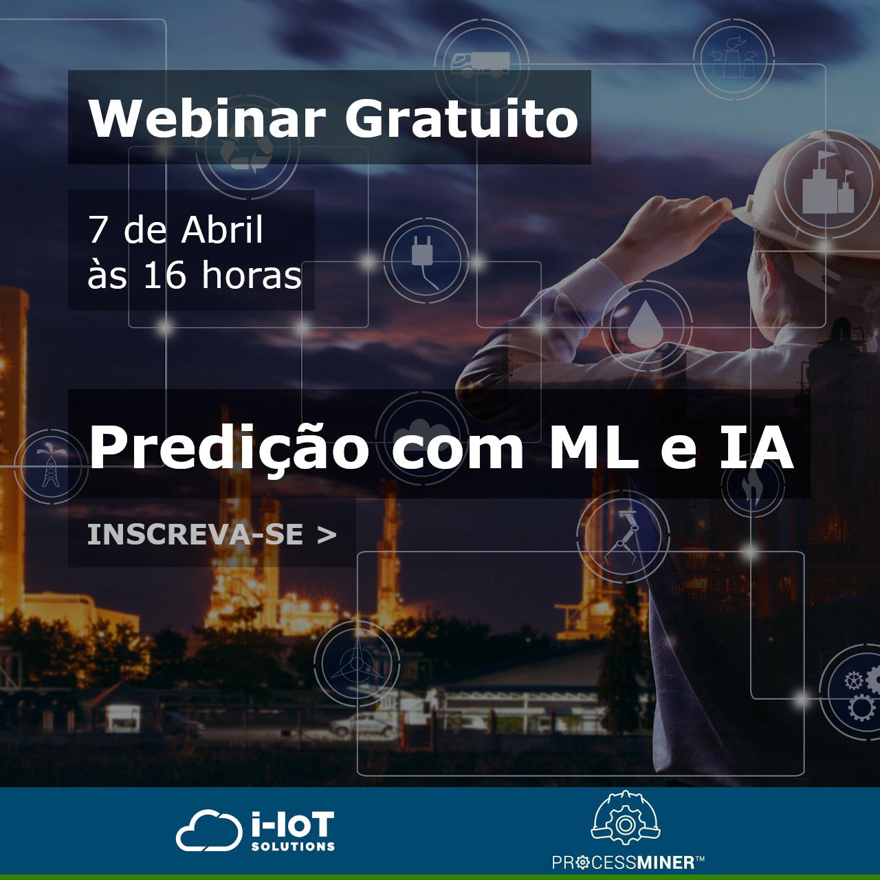 Predição com ML e IA é tema de webinar