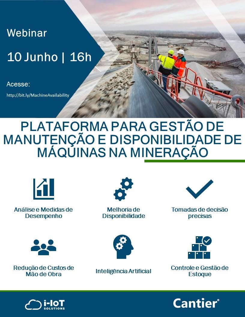 Cantier para gestão da manutenção de máquinas na mineração