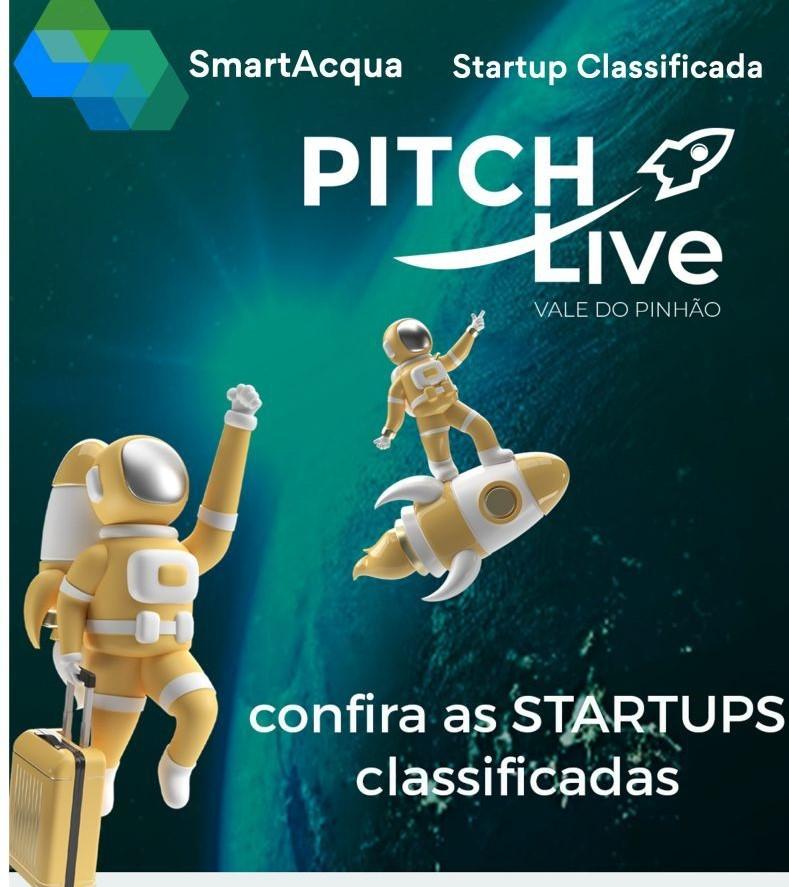 SmartAcqua é classificada para o Pitch Live 2021