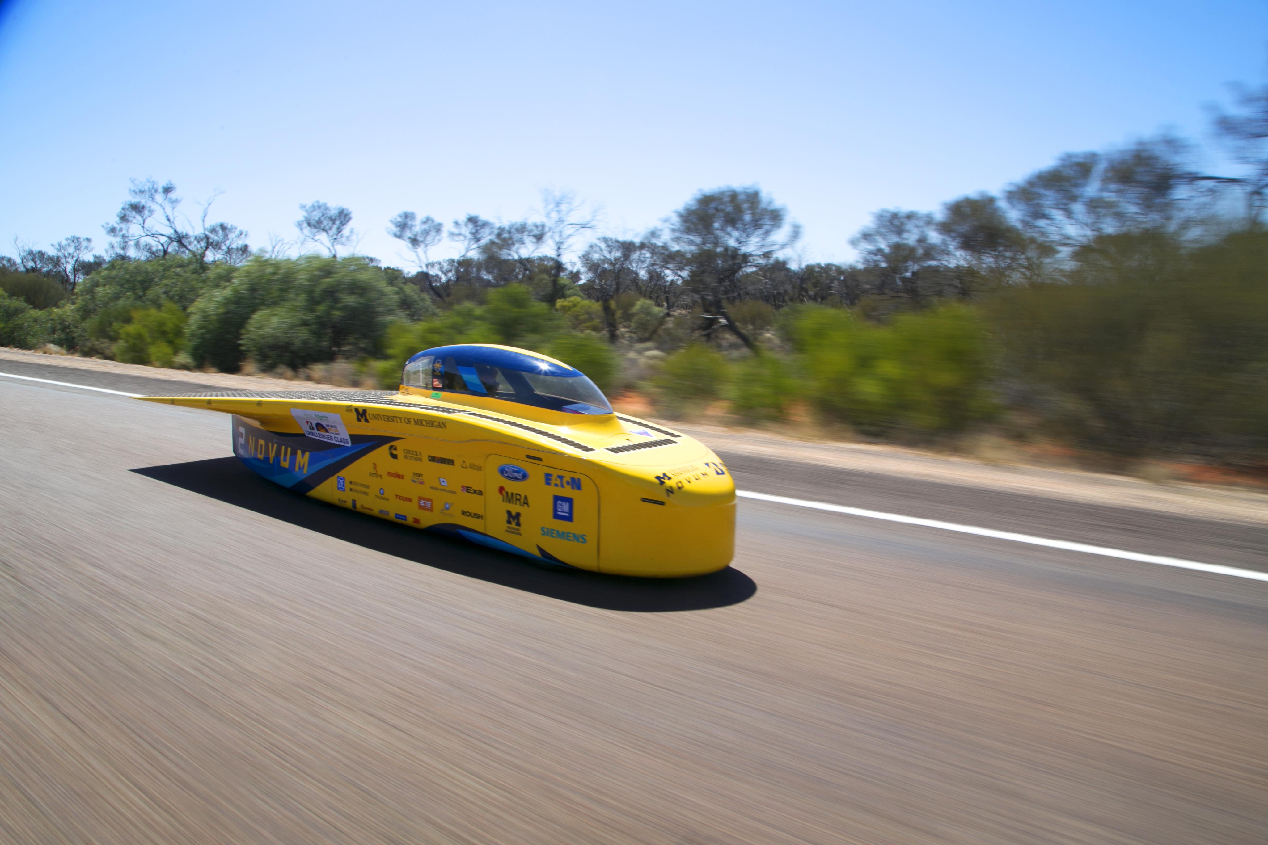 Novum soars downt he Stuart Highway.
