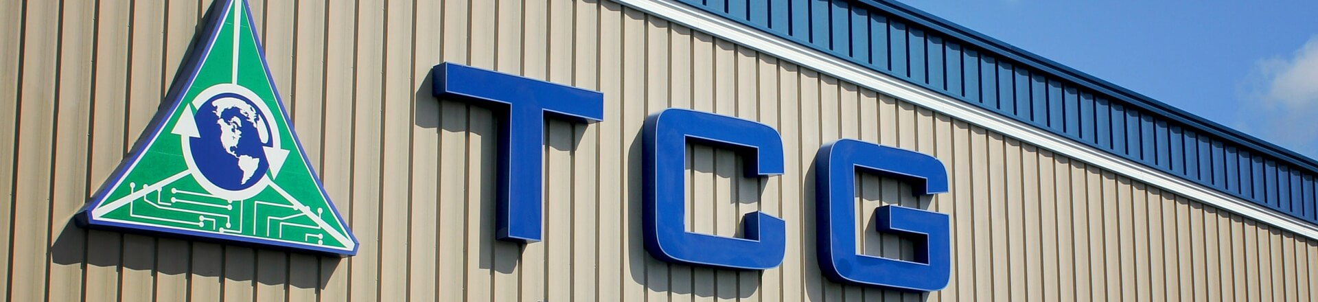 Main sign in front of TCG corporate