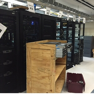 Data center being broken down for clean-out