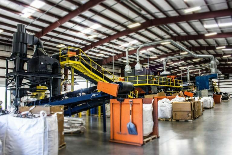TCG shredding& processing facility