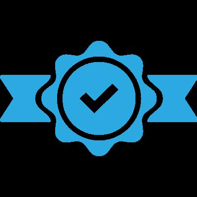 Quality Blue Icon