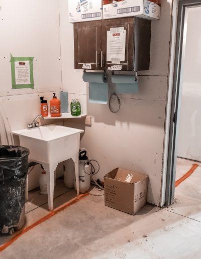 Construction Hand Sanitizing Station