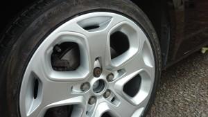 finished wheel repair