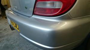 bumper scuff repair finished