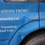Blue Van Damage