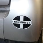 sticker on bumper