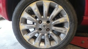 Alloy wheel mid repair