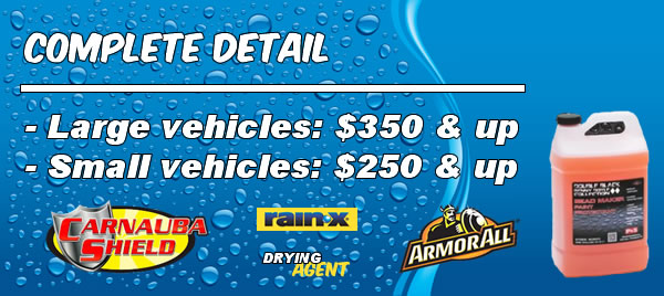 Complete Detail Pricing