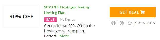 Click on deal if there is no Hostinger promo code or coupon