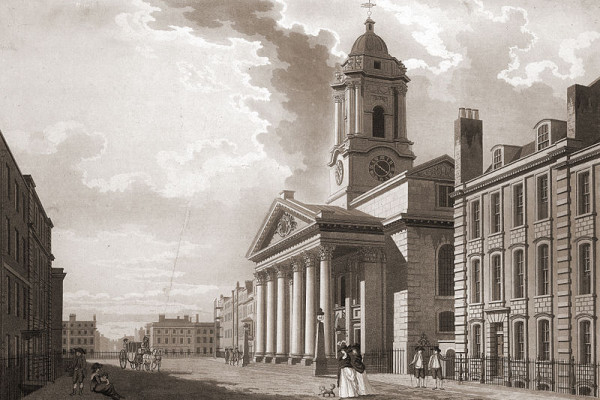 St George's Hanover Square (dated 1787; courtesy of the British Library, London)