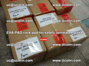 EVA PAD cork pad for safety glazing glass separation (25)