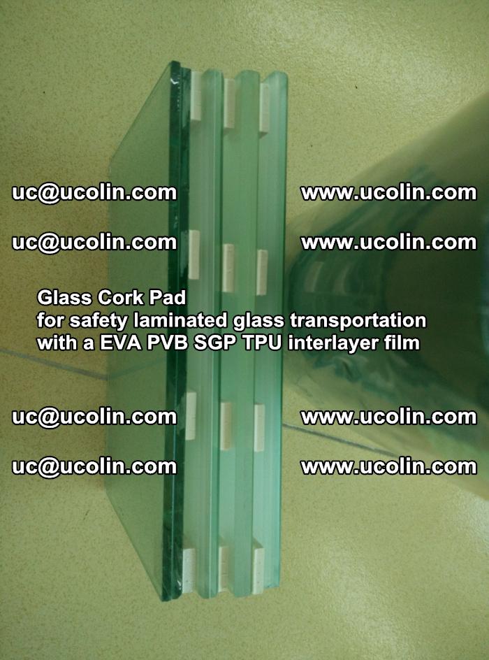 Glass Cork Pad for safety laminated glass transportation with a EVA PVB SGP TPU interlayer film (15)