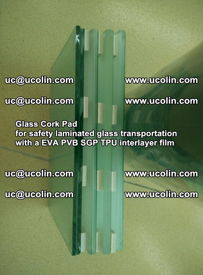 Glass Cork Pad for safety laminated glass transportation with a EVA PVB SGP TPU interlayer film (16)