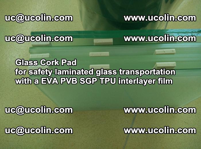 Glass Cork Pad for safety laminated glass transportation with a EVA PVB SGP TPU interlayer film (17)