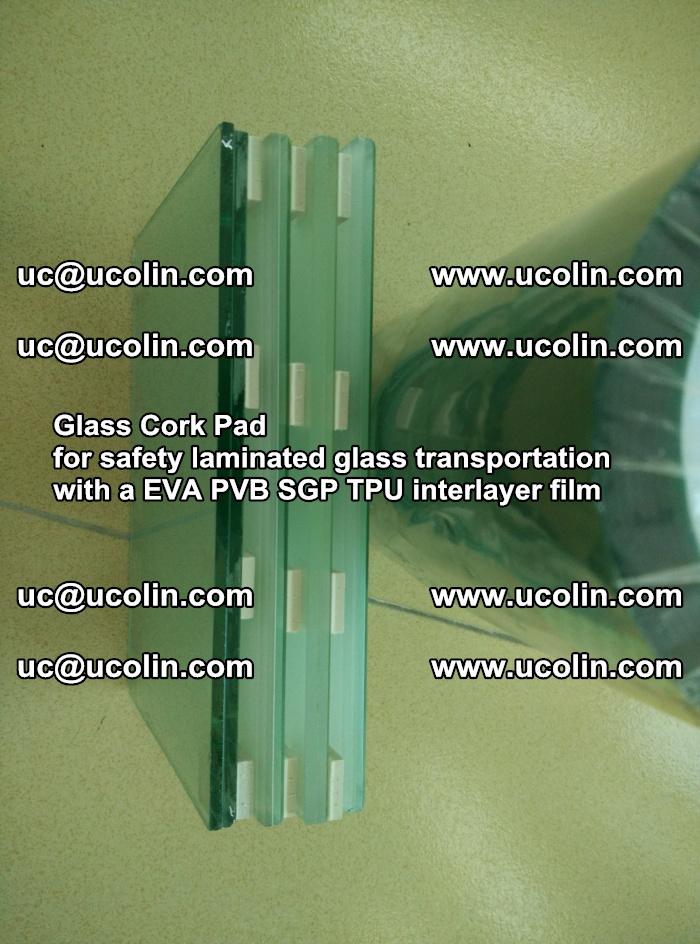 Glass Cork Pad for safety laminated glass transportation with a EVA PVB SGP TPU interlayer film (2)