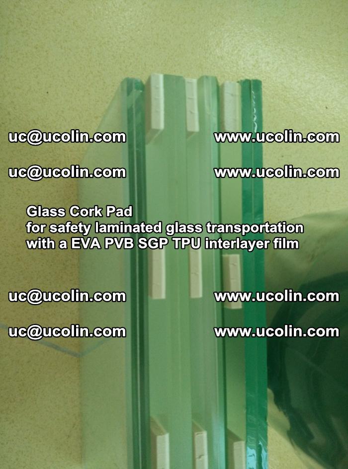 Glass Cork Pad for safety laminated glass transportation with a EVA PVB SGP TPU interlayer film (33)