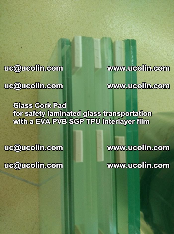 Glass Cork Pad for safety laminated glass transportation with a EVA PVB SGP TPU interlayer film (35)