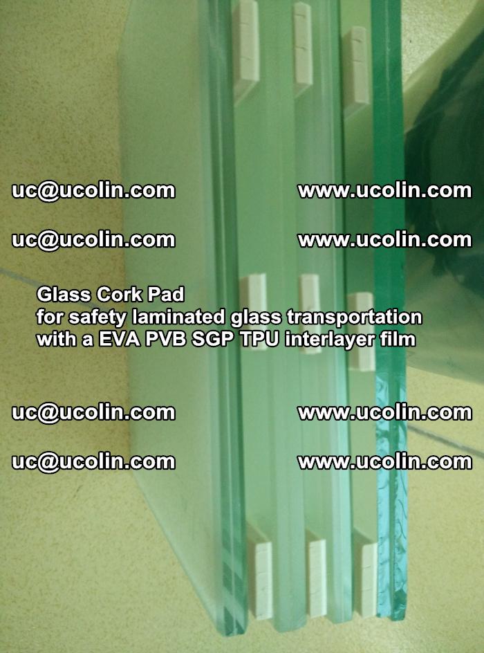 Glass Cork Pad for safety laminated glass transportation with a EVA PVB SGP TPU interlayer film (41)