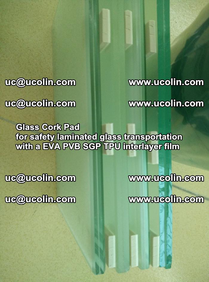 Glass Cork Pad for safety laminated glass transportation with a EVA PVB SGP TPU interlayer film (46)