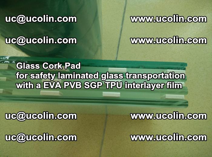 Glass Cork Pad for safety laminated glass transportation with a EVA PVB SGP TPU interlayer film (53)