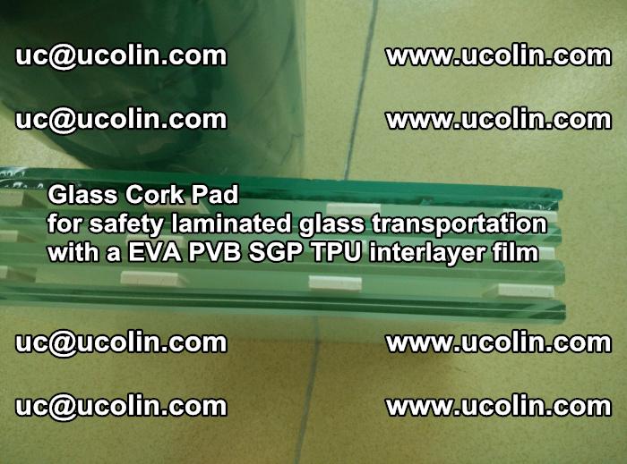 Glass Cork Pad for safety laminated glass transportation with a EVA PVB SGP TPU interlayer film (59)