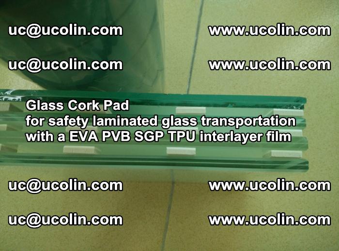 Glass Cork Pad for safety laminated glass transportation with a EVA PVB SGP TPU interlayer film (63)